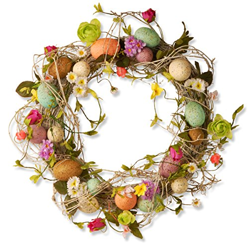 National Tree 18 Inch Easter Wreath with Mixed Flowers