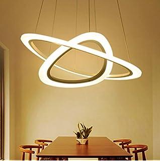 Ringleuchte Ringe Zwei Hngelampe Wohnzimmer Modern Led Dimmbar Lampe 2835 Strip Esstischlampe Rund Drahtseil Acryl