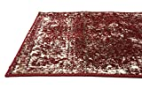 Unique Loom Sofia Collection Burgundy 2 x 13 Runner