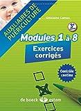 Auxiliaires de puériculture - modules 1 à 8 : Exercices corrigés