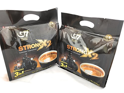 G7 STRONG 2X Vietnamese 3 in 1 Coffee 21.16oz(600g), 24 Sticks (Pack of 2)