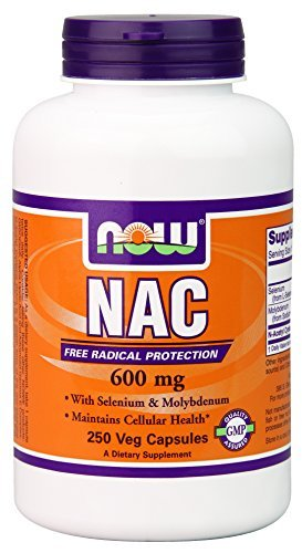 NOW Foods Nac-Acetyl Cysteine 600mg, 250 Vcaps (Pack of 5) by NOW Foods