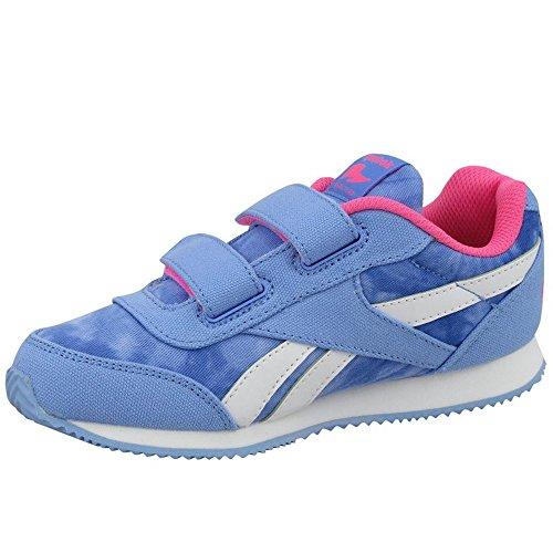 Reebok Royal Cljog 2gr 2v, Zapatos de Primeros Pasos Para Bebés Azul / Rosa / Blanco (Galaxy / Solar Pink)