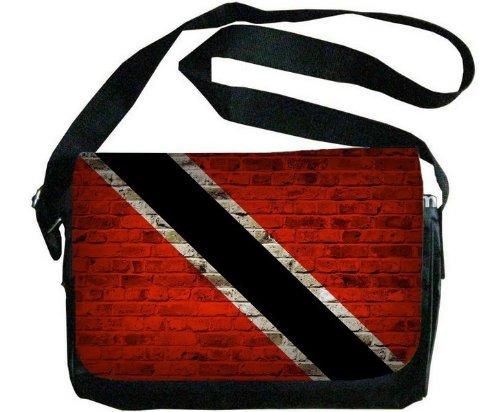 Trinidad And Tobago Flag Brick Wall Design Messenger Bag