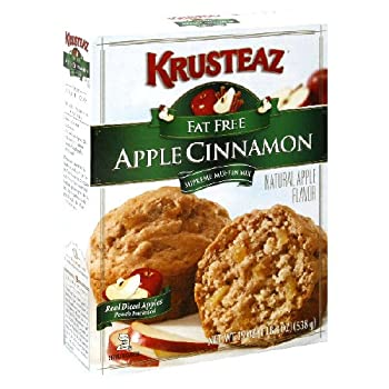 Krusteaz Supreme Apple Cinnamon Muffin Mix Fat Free 19 Oz 6 Packs