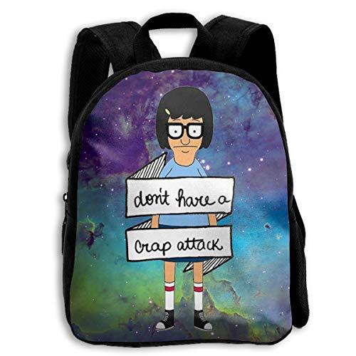 (Sheridan Reynolds Don't Have A Crap Attack Bob's Burgers Kid Backpack Boys' Girls' School Bookbag for Children Black)