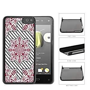 Red Victoria Damask With Black Stripes Hard Plastic Snap On Cell Phone Case Amazon Fire