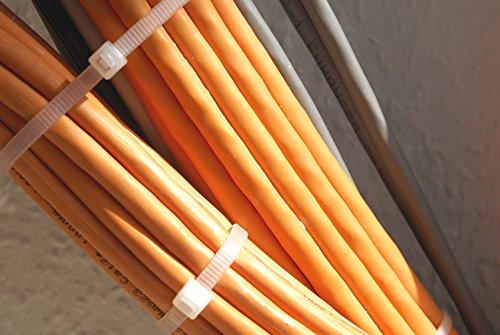100 pezzi fascette stringicavo 200 mm x 4,8 mm per rete ombreggiante recinzione in verde