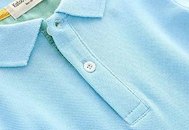 Koupa Kids Short Sleeve Polo Shirts Boys Casual Cartoon Printing T-Shirt School Uniform Toddler Summer Tops Blue 18-24 Months