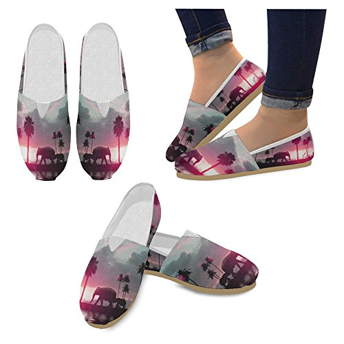 Mocassini Da Donna Di Interestprint Classico Su Tela Casual Slip On Fashion Shoes Sneakers Flat Multi 3