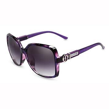 WX xin Luz Polarizada Gafas De Sol Cara Redonda Sra Anti-UV ...