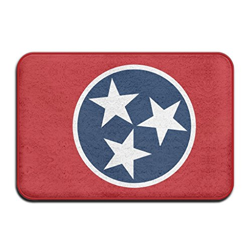Afagahahs Cushion Tennessee State Flag Three Five-Pointed Star Short Plush Top Doormat Creative Indoor/Outdoor Mat Standar Size 18x30 Inches Durable And Beautiful Rug