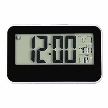 DE Digital LCD Wecker Tischuhr Funkwecker Temperatur Anzeige Kalender Uhren NEU