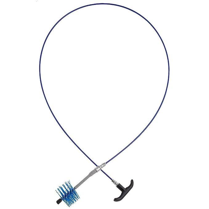 WOLFPACK Saturnia 22020655 - Kit Cepillo deshollinador para Tubos Estufas, 2 m x 80 mm: Amazon.es: Jardín
