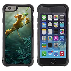 Hybrid Anti-Shock Defend Case for Apple iPhone 6 4.7 Inch / Cute Mice