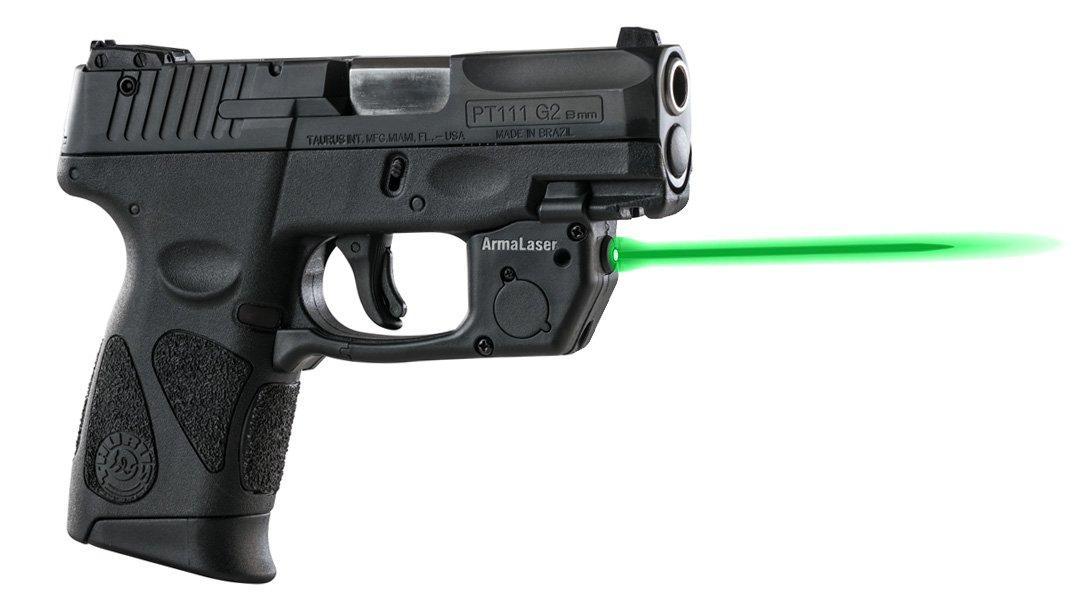 ArmaLaser Taurus PT111 PT140 Millenium G2 TR23G Green Laser Sight with Grip Activation by ArmaLaser