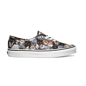 38e1aa9b48 Vans Authentic ASPCA Cats Ankle-High Canvas Skateboarding Shoe - 5.5M   4M