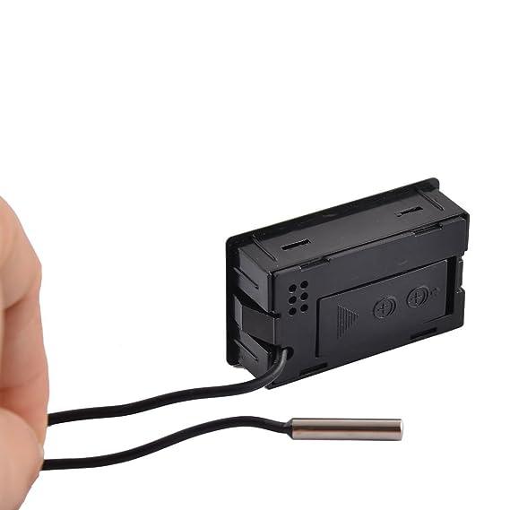 Amazon.com : Exibição DealMux Aquarium Incubadora Frigorífico Eletrônica Digital Medidor Sensor de temperatura Sensor Termômetro : Pet Supplies