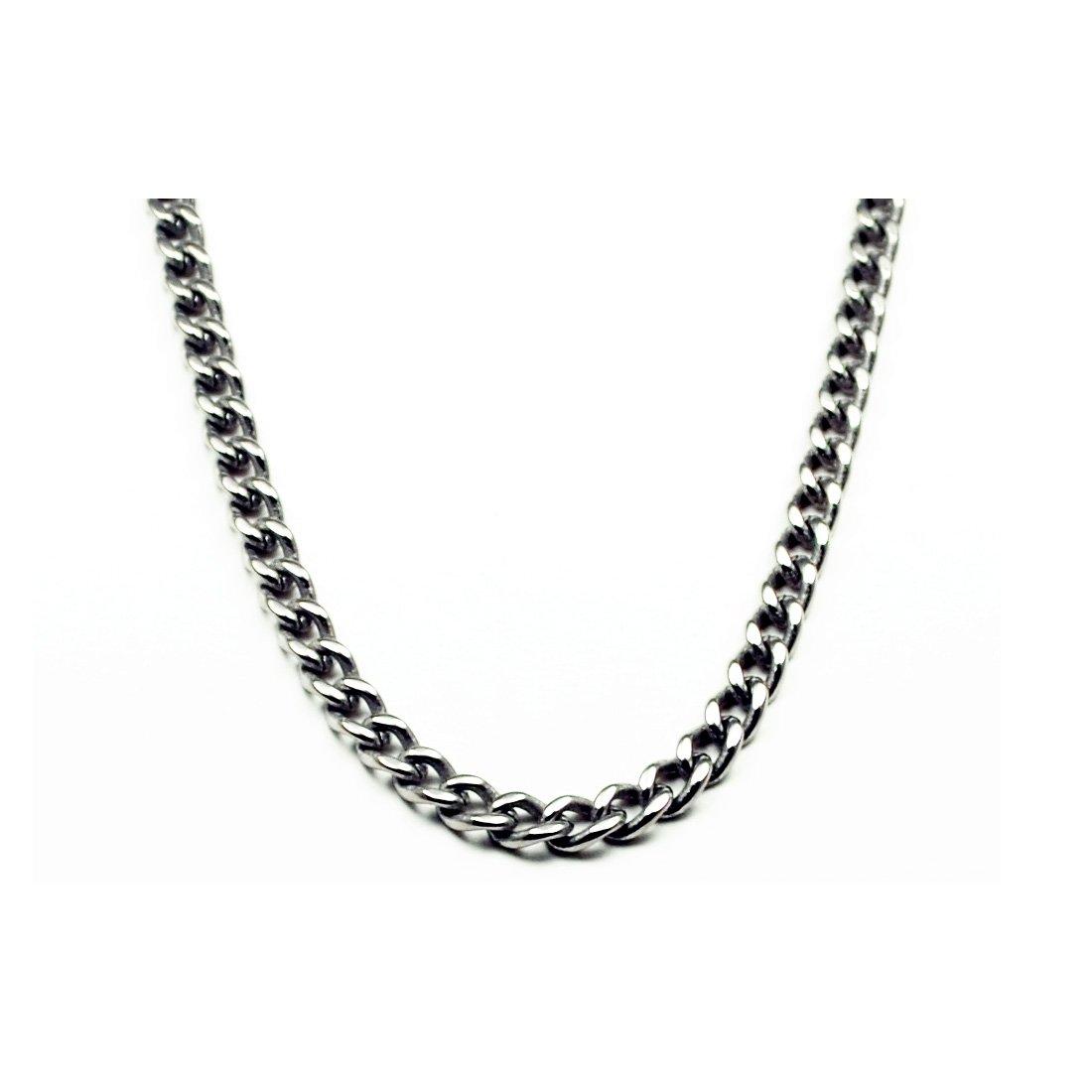 5.5mm Titanium Men's Curb Link Necklace Chain