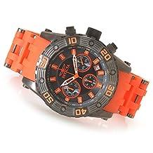 New Mens Invicta 22092 Sea Spider Chronograph Orange Bracelet Watch