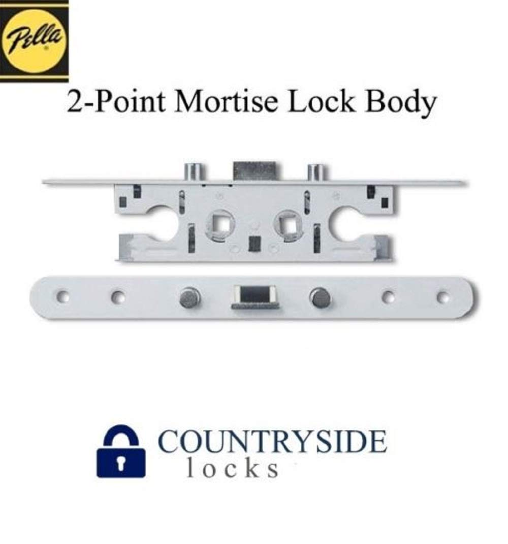 Pella 2 Point Bolt Mortise Lock Body, Storm Door White