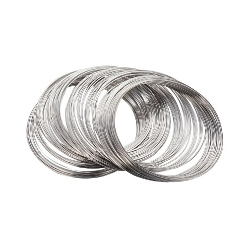 NBEADS 1000g Steel Memory Wire, Necklaces Making, Nickel Free, Nickel, 11.5CM, Wire: 1.0mm, About 500 circles/1000g