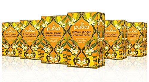 Pukka Herbs Organic Lemon, Ginger and Manuka Honey Herbal Te