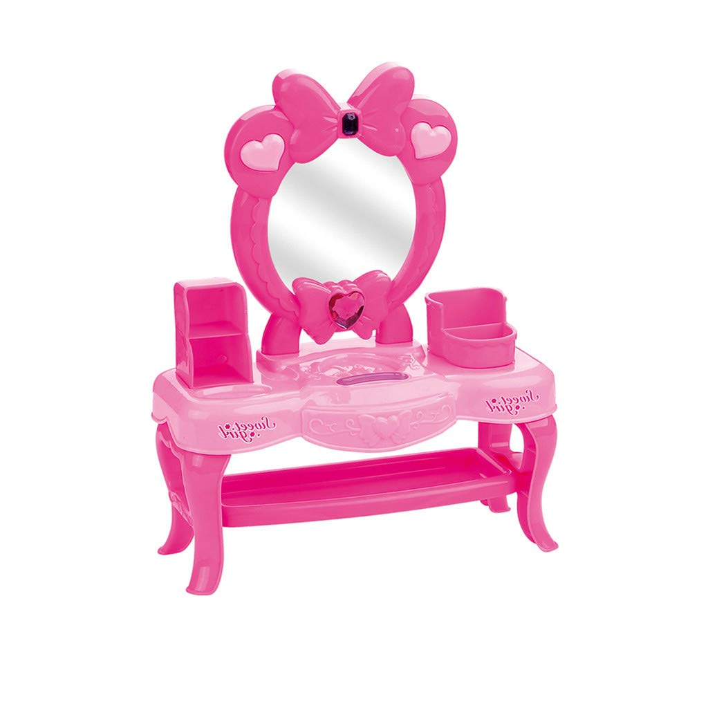 COLOR-LILIJ Vanity Pretend Play Dressing Table Beauty Set with Various Accessories for Girls - 12.2x2.5x10.3 in.