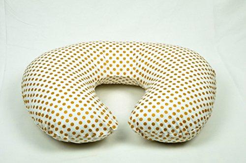Metallic Gold Dots Boppy Pillow Cover