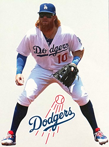 Justin Turner Mini FATHEAD Los Angeles Dodgers Logo Official MLB Removable and Re-Usable Vinyl Wall Graphic 7