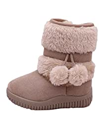 AMA(TM) Baby Girls Kids Cotton Ball Boots Winter Warm Snow Boots Shoes