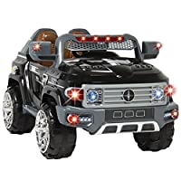 Eight24hours 12V MP3 Kids Ride on Truck Car R/c Remote Control, LED Lights, AUX and Music
