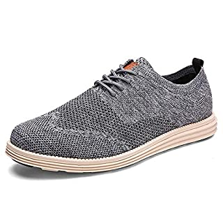 Men-Casual Shoes-Fashion Sneakers-Tennis Walking-Footwear - Oxfords Dress Shoes Breathable Lightweight Men Shoes Grey