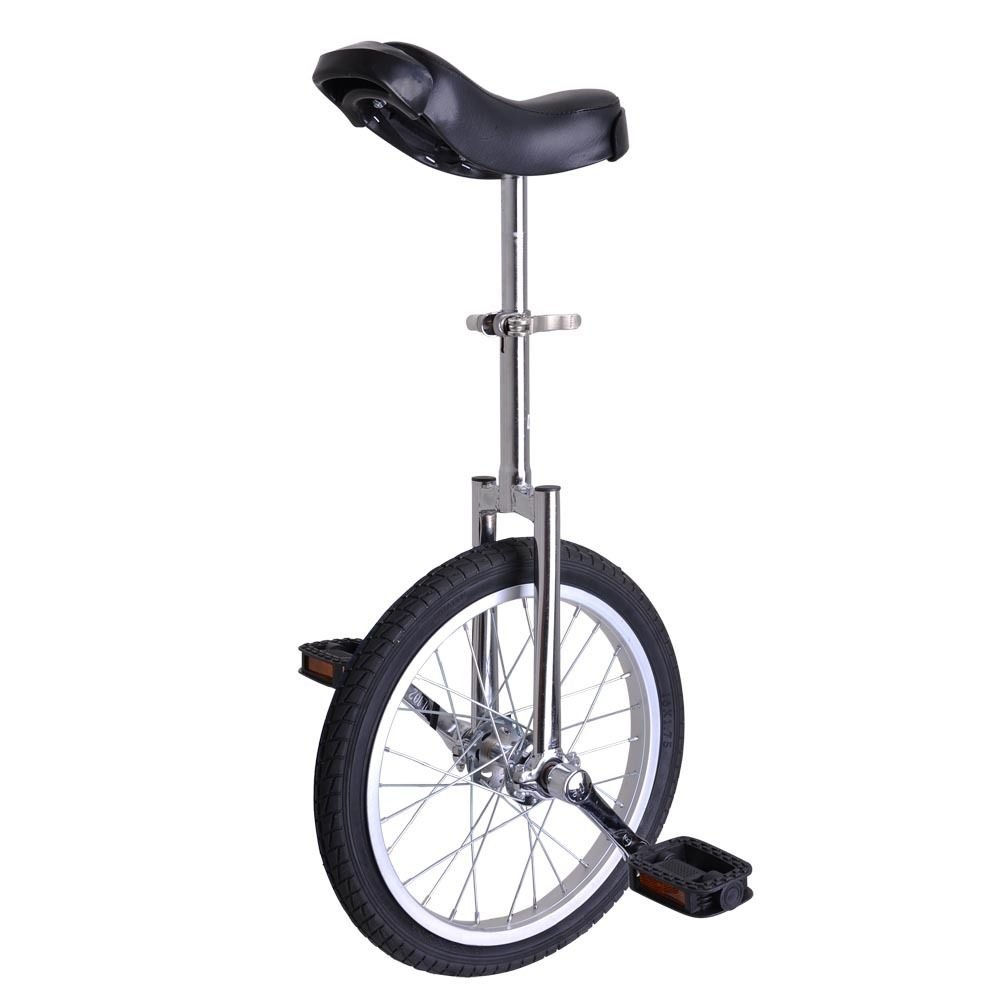 GHP Silver Manganese Steel 16'' Wheel Skid-Proof Tire Aluminum Alloy Rim Unicycle