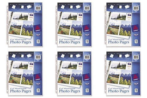 Six Pack Photo (Avery Mixed Format Photo Pages, Acid Free, Pack of 10 (13401), 6 Packs)