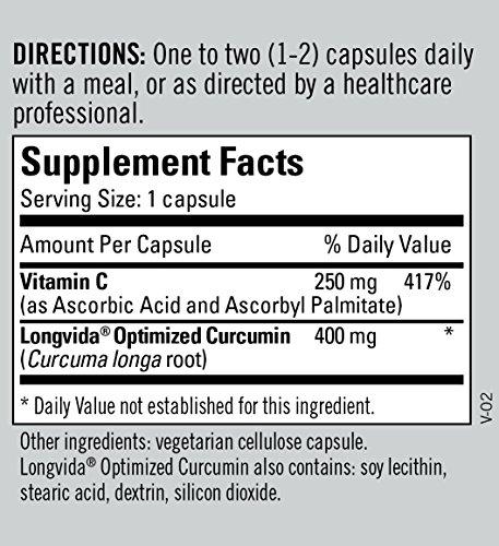 Metabolic Maintenance - Curcumin + C (Longvida) - 400 mg, High Absorption + Bioavailability, 60 Capsules by Metabolic Maintenance (Image #5)