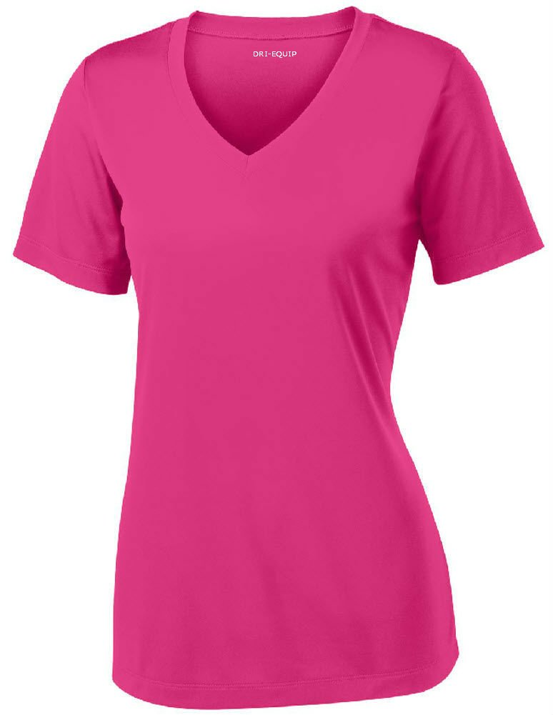 Joe's USA Women's Short Sleeve Moisture Wicking Athletic Shirt-Raspberry-XS by Joe's USA (Image #1)