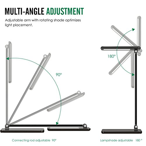 moko dimmable led desk lamp  8w touch