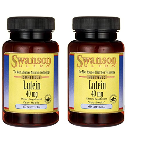 Swanson Lutein Eye Vision Retina Macula Health Supplement 40 mg 60 Softgels Sgels (2 Pack)