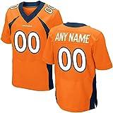 Generic Mens Orange Denver Football Broncos Unsigned Custom Jersey