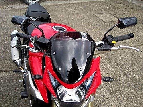 Motos y Scooter Espejos Look Carbono Ajuste Universal 8mm