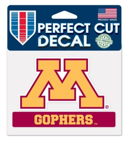 Wincraft NCAA Official University of Minnesota Gophers 4x5 Perfect Cut Decal