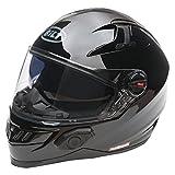 Bilt Techno 2.0 Bluetooth Helmet (M, Matte Black)