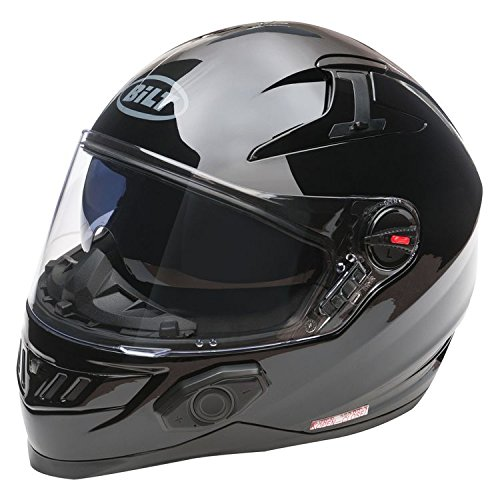 Bilt Techno 2.0 Bluetooth Helmet (XS, Matte Black)