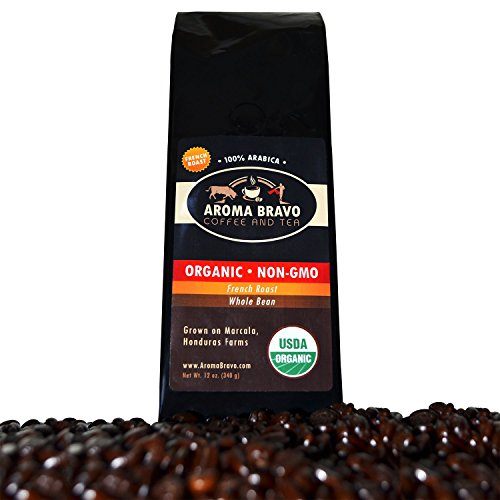 Night-time Roast Coffee for French Press Mornings - USDA Certified Organic Arabica Whole Bean - Fresh Honduran Beans Ethically Sourced in Marcala Pale - Great for Cold Brew 12 oz Bag