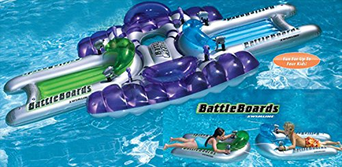 Water Sports 3-Piece Inflatable Battle Board Station Swimming Pool Squirter Set (Sports Squirters)