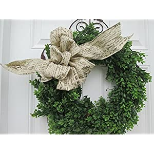 FAUX BOXWOOD WREATH ~ Boxwood Door Wreath ~ French Country Style Decor Wreath ~ Farmhouse Style Boxwood Decor Wreath ~ Interior Decor Wreath 10