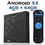 Android 9.0 TV Box, [4GB+64GB]EVANPO T95 max Quad Core Smart TV Box Android Box Media Player Support USB 3.0/ 3D/ 4K/ 6K/ H.265/ HD Resolution 2.4G WiFi Set Top TV Box