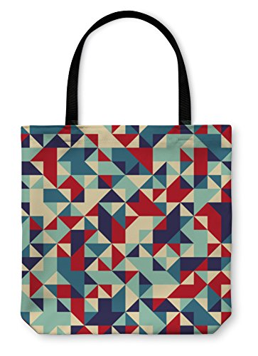 Gear New Shoulder Tote Hand Bag, Geometric Pattern, 18x18, - Frame Bags Sample Optical