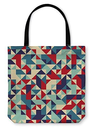 Gear New Shoulder Tote Hand Bag, Geometric Pattern, 18x18, - Frame Sample Bags Optical